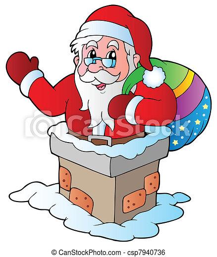 Santa Claus 5 de Navidad - csp7940736