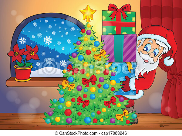 Santa Claus, escena interior 7 - csp17083246