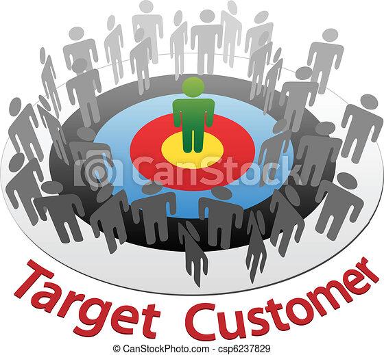 Marketing al mercado de objetivos de los mejores clientes - csp6237829