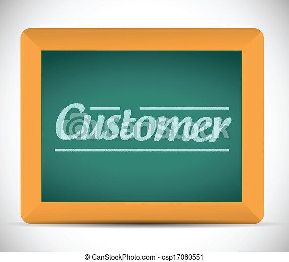 Mensaje del cliente escrito en una pizarra - csp17080551