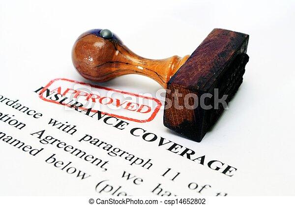 La cobertura del seguro - csp14652802