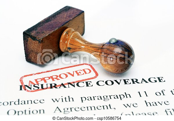La cobertura del seguro - csp10586754