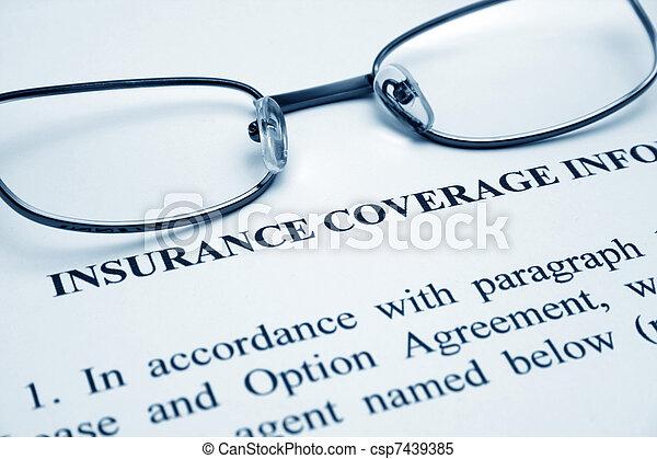 La cobertura del seguro - csp7439385