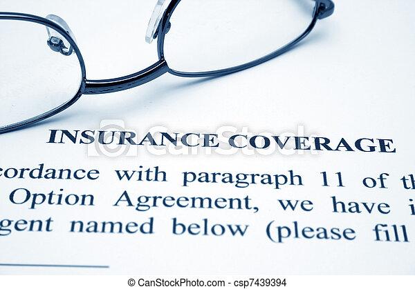 La cobertura del seguro - csp7439394