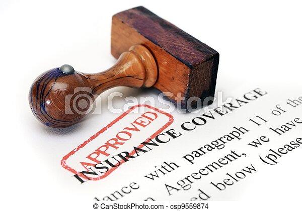 La cobertura del seguro - csp9559874