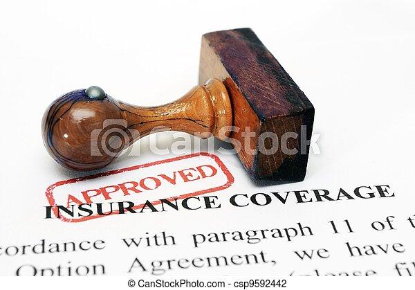 La cobertura del seguro - csp9592442