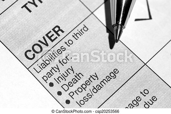 La cobertura del seguro - csp20253566