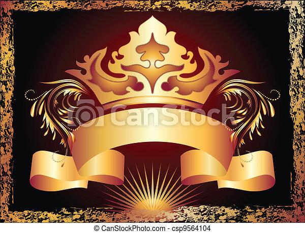 Ornamento de cobre y corona - csp9564104