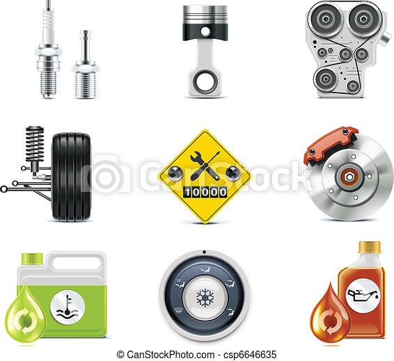 iconos de servicio de autos. P.3 - csp6646635