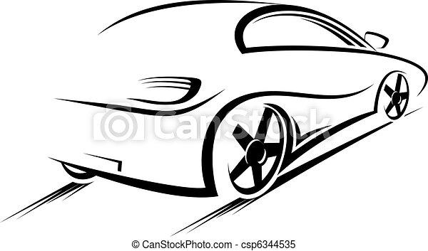 Silueta de coche - csp6344535
