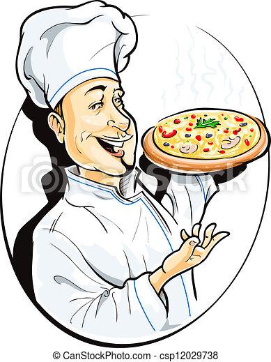 Cocina con pizza - csp12029738