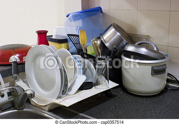 Cocina desordenada - csp0357514