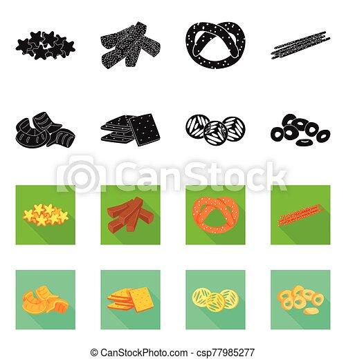 cocina, oktoberfest, vector, logo., objeto, conjunto, stock., barra, aislado, icono - csp77985277