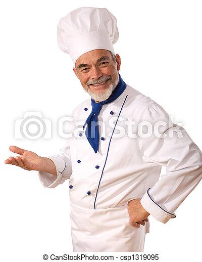Cocinera atractiva - csp1319095