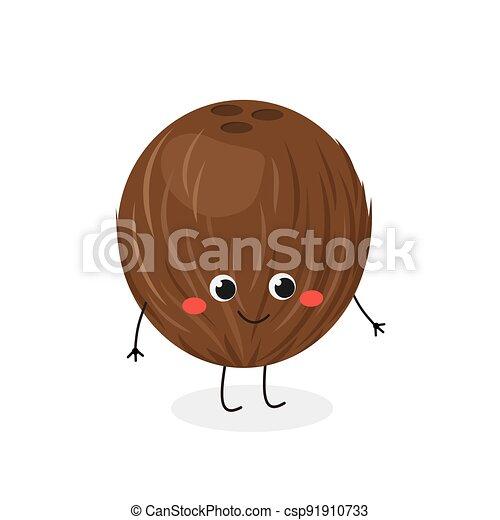coco, caricatura, vector, ilustración, carácter, divertido, peludo - csp91910733