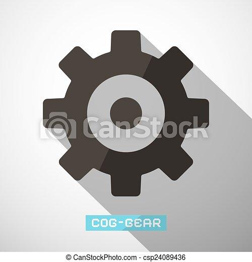 Cog - vector de engranaje - csp24089436