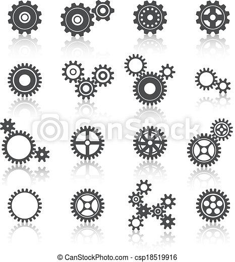 Cogs ruedas y engranajes listos - csp18519916