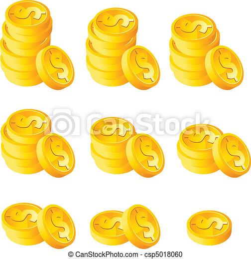 Tira monedas de oro - csp5018060