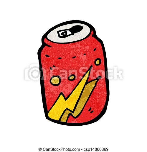 Cartoon cola lata - csp14860369