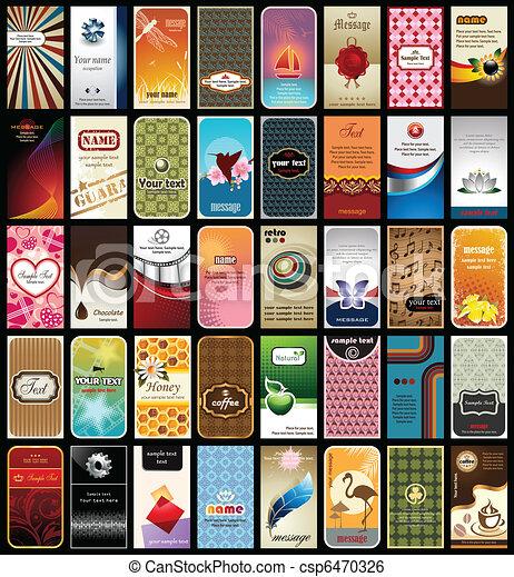 Colección de 40 tarjetas - csp6470326