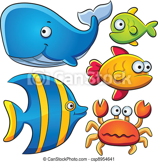 Colección de pescado marino - csp8954641