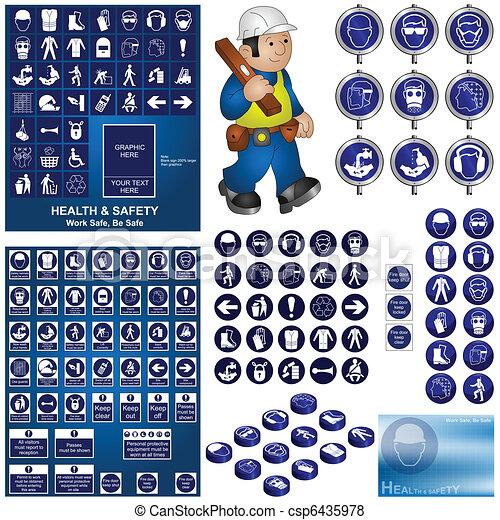 Colección de salud y seguridad - csp6435978