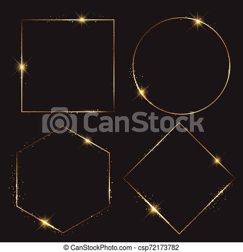 Coleccion de marcos de oro - csp72173782