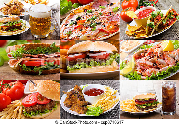 Collage de comida rápida - csp8710617