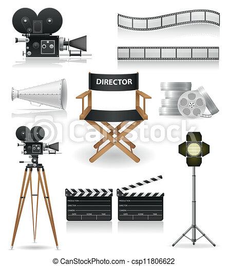 Coloca iconos en el cine - csp11806622