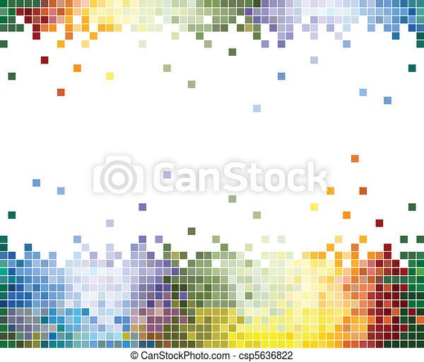 Color pixels fondo abstracto - csp5636822