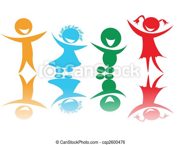Niños felices de colores - csp2600476