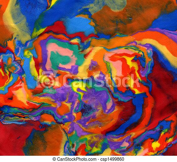 Colores psicodélicos vivos de plastilina. - csp1499860
