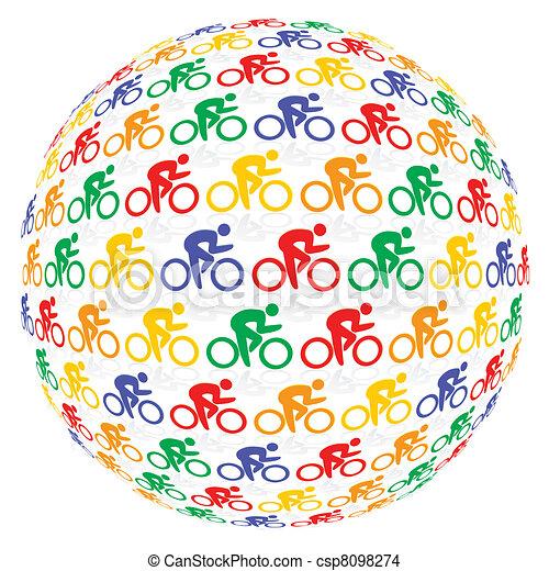 Ciclistas coloridos - csp8098274