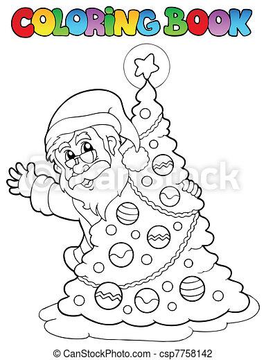 Libro de Color Santa Claus Tema 5 - csp7758142