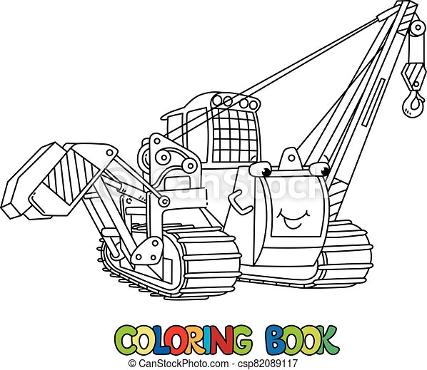colorido, coche, libro, colocar, eyes., tubo, vehicle. - csp82089117
