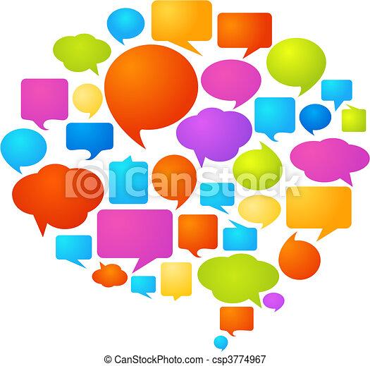Burbujas de discurso - csp3774967
