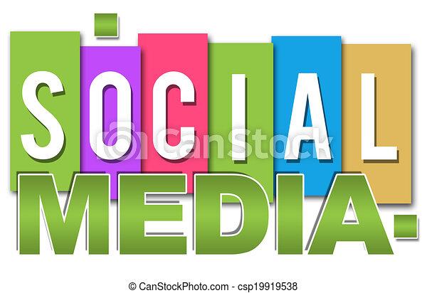 Colorido profesional de las redes sociales - csp19919538