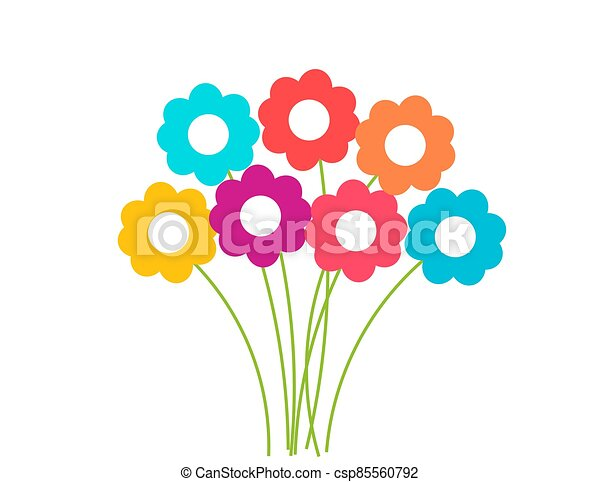 colorido, ramo, flowers. - csp85560792