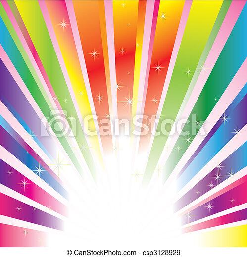 Colorido resplandor de fondo con estrellas - csp3128929