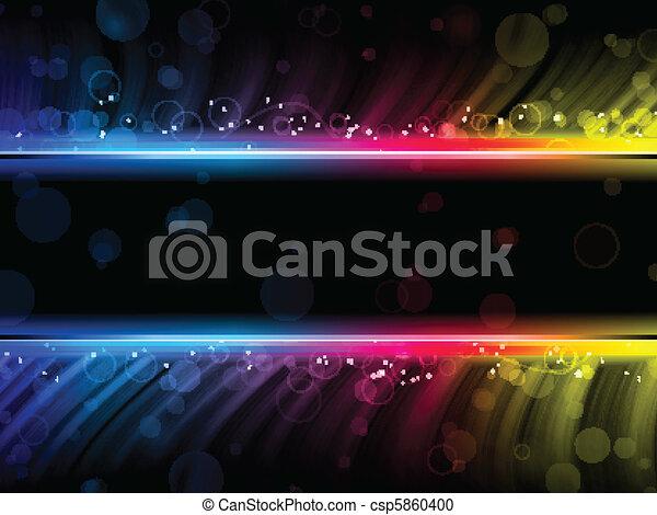Olas abstractas coloridas en el fondo negro - csp5860400