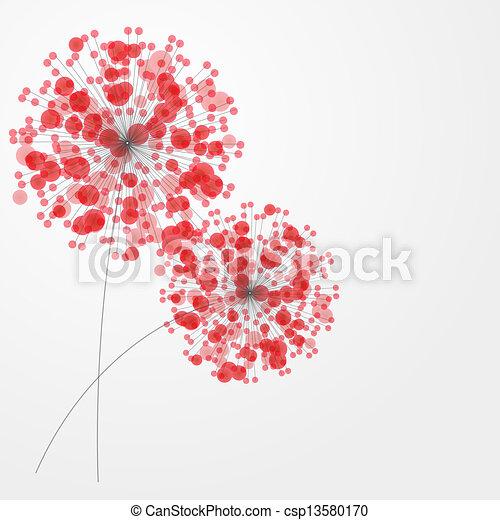 Extractos colores con flores. Ilustración del vector - csp13580170