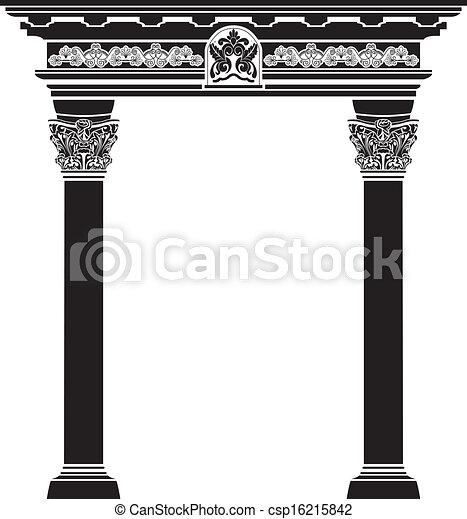 Arco clásico con columna filigrana - csp16215842