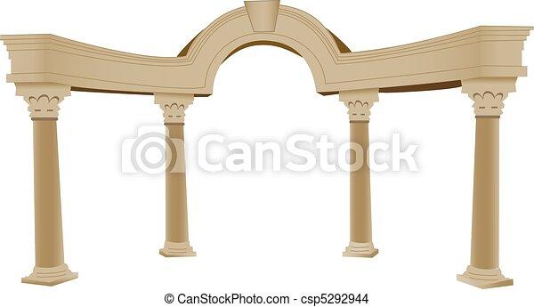 3D, arco y columna - csp5292944