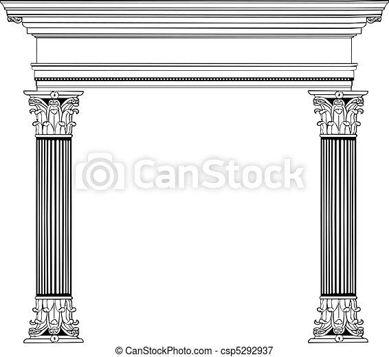 Columna griega y arco - csp5292937