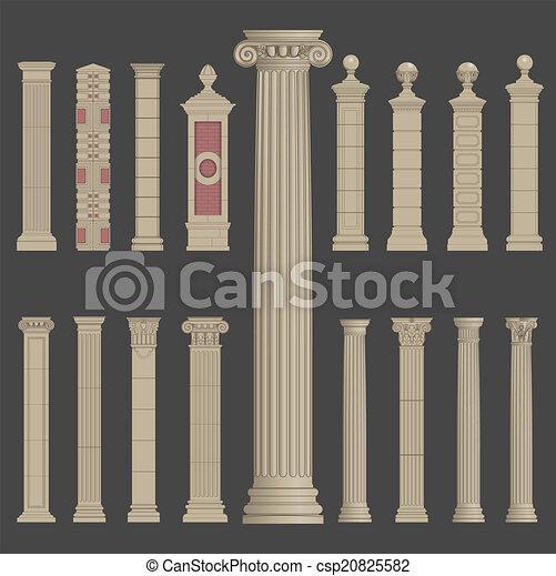 Arquitectura Pilar roman greek - csp20825582