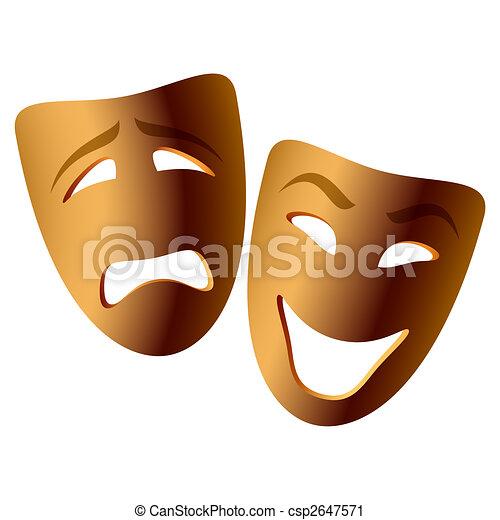 Máscaras de comedia y tragedia - csp2647571