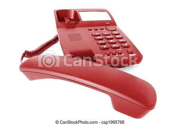 Comunicaciones. El teléfono de la oficina - csp1995768