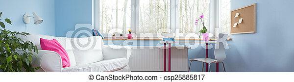 Comodo sofá blanco - csp25885817