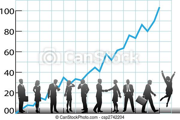 Crecimiento del equipo de negocios - csp2742204