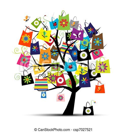 Comprar bolsas en un árbol para tu diseño - csp7027521